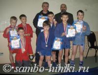 Призеры Самбо-Химки, С. Казанцев и А. Козий