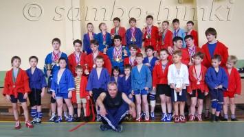 Команда Самбо-Химки со своим тренером Казанцевым С. В. 15 марта 2008 года